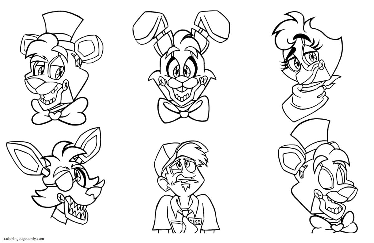 Five Nights at Freddy's 3 Coloring Page