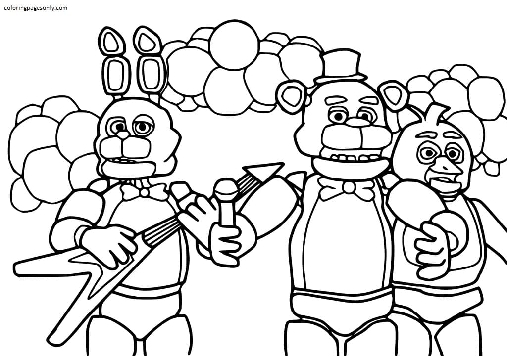 Five Nights at Freddy's 4 Coloring Page