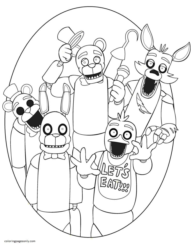 Five Nights at Freddy's 6 Coloring Page