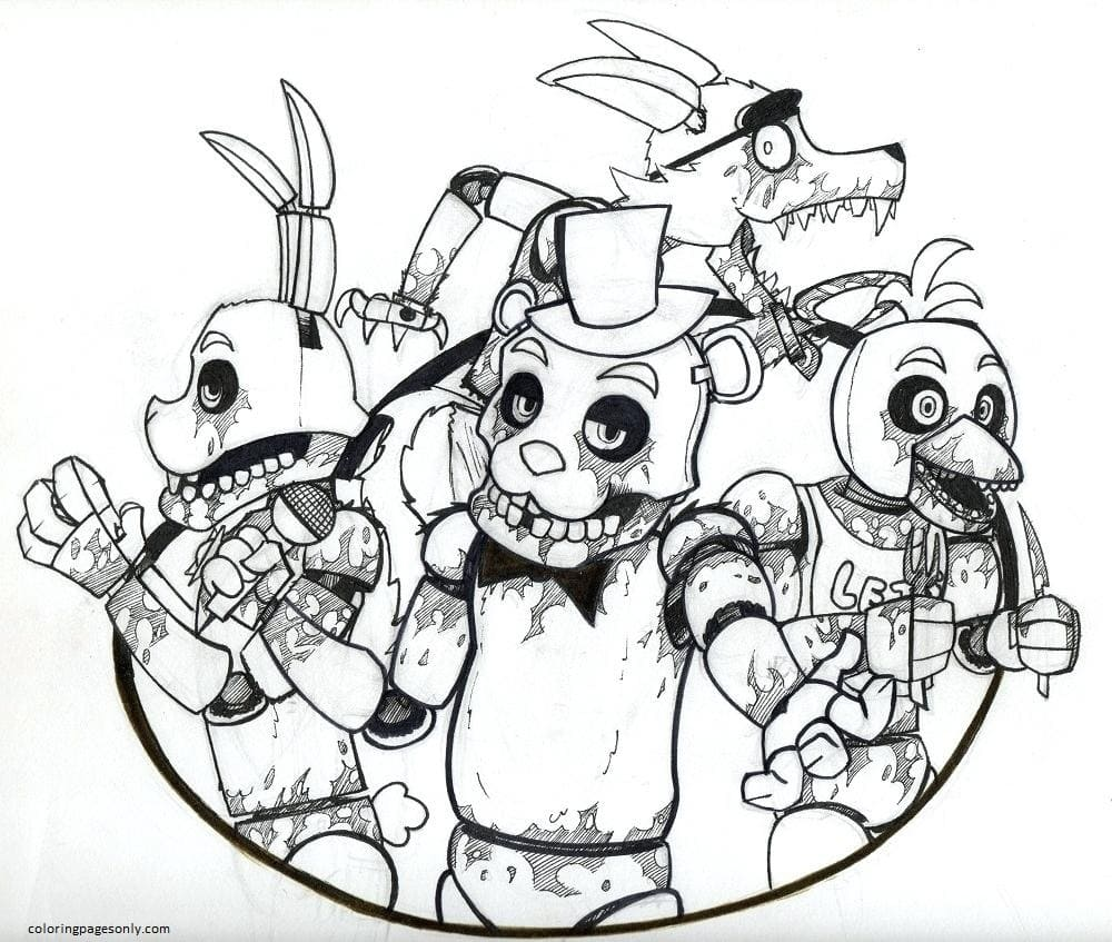 Five Nights at Freddy's 7 Coloring Page