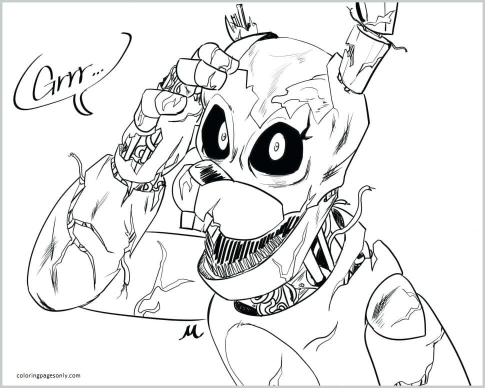 Five Nights at Freddy's 8 Coloring Page