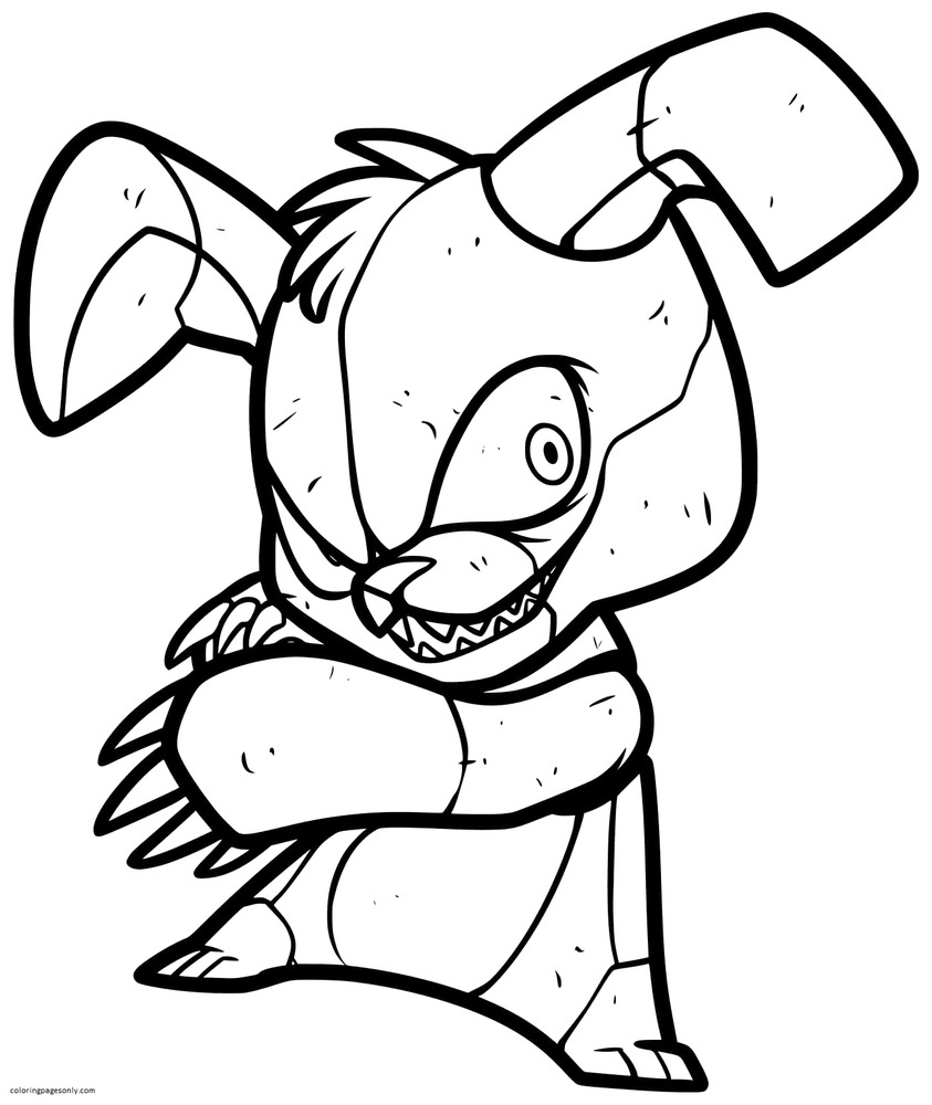 Five Nights at Freddy's Bonnie Coloring Page