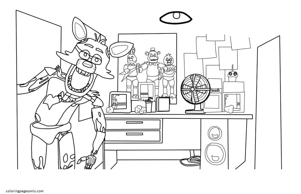 Five Nights at Freddy's Lineart Coloring Page