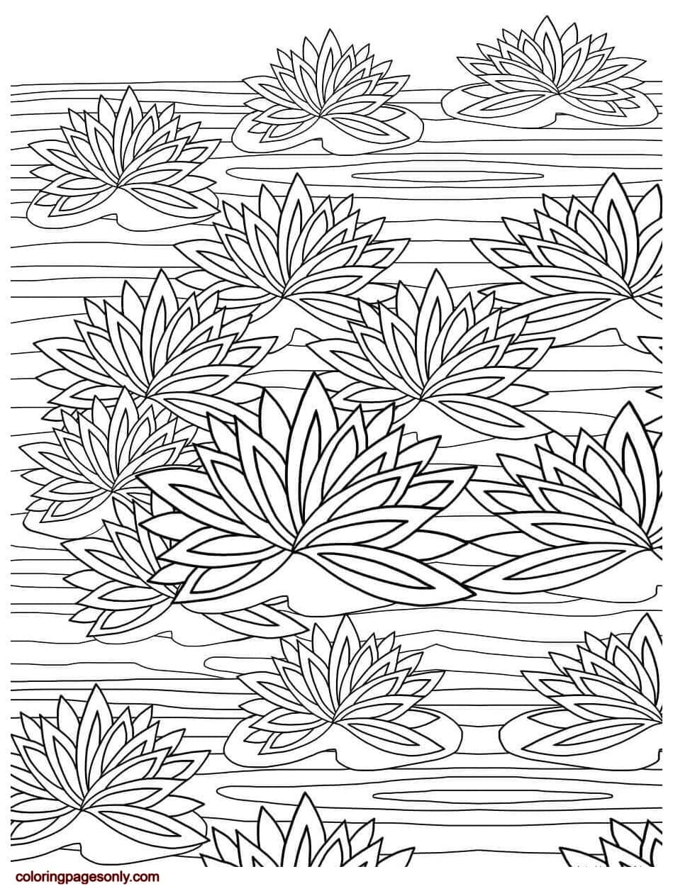 Floral Pattern 1 Coloring Page