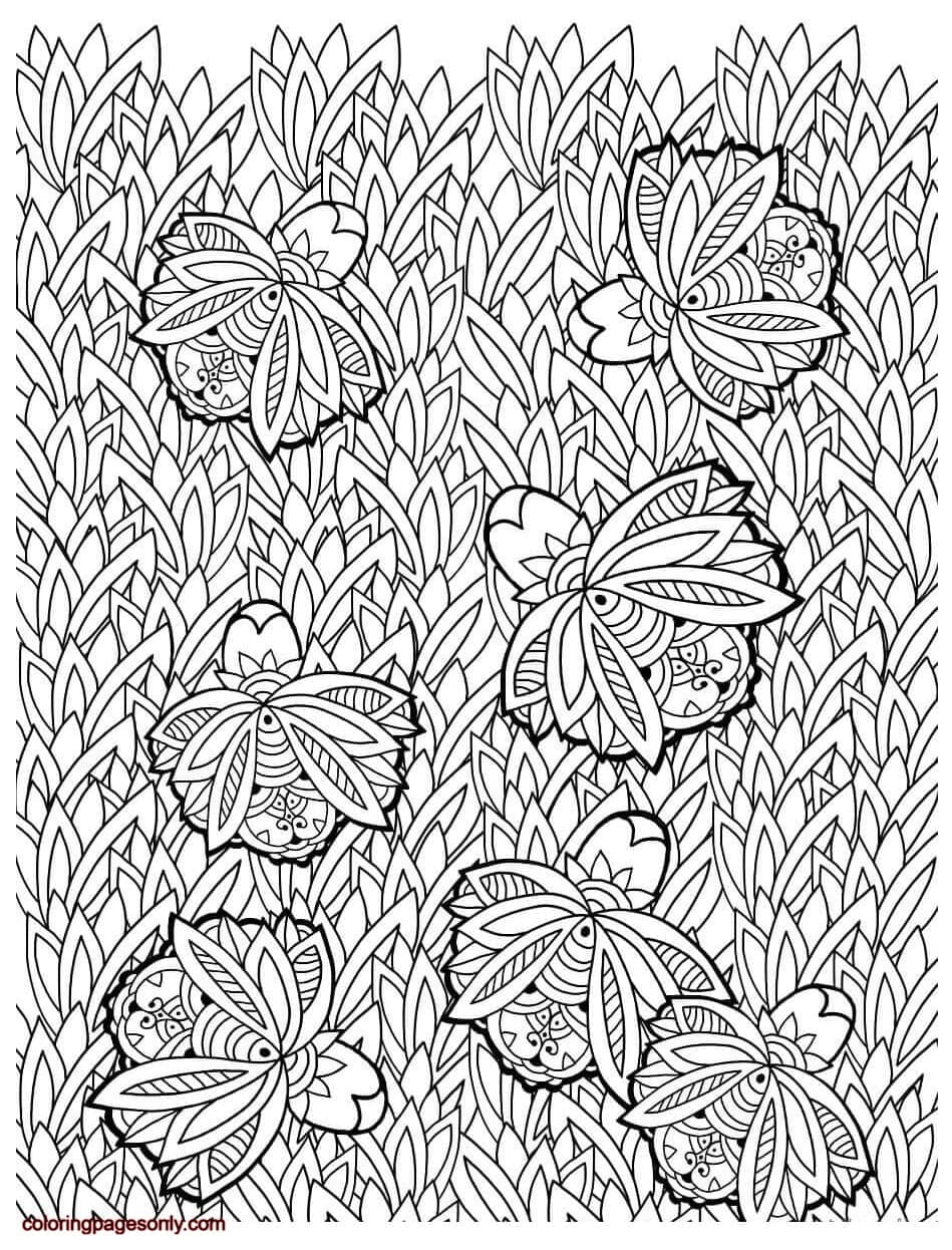 Floral Pattern 2 Coloring Page
