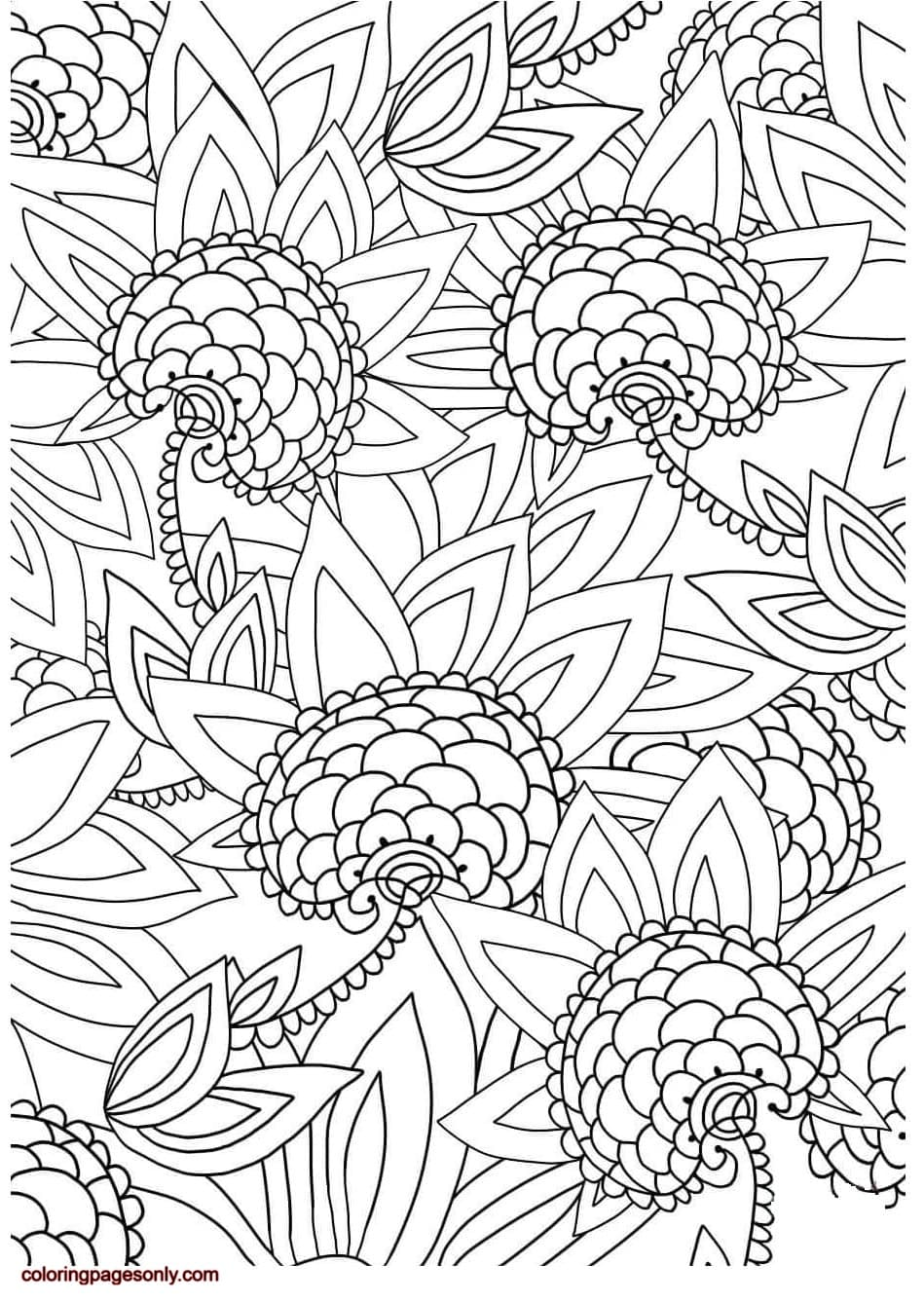 Floral Pattern 3 Coloring Page