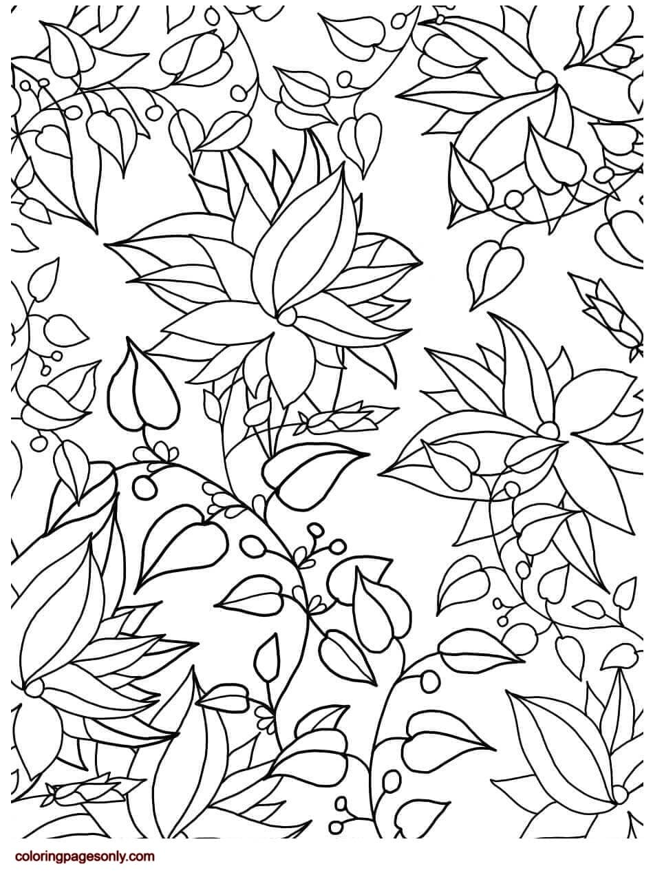 Floral Pattern 4 Coloring Page