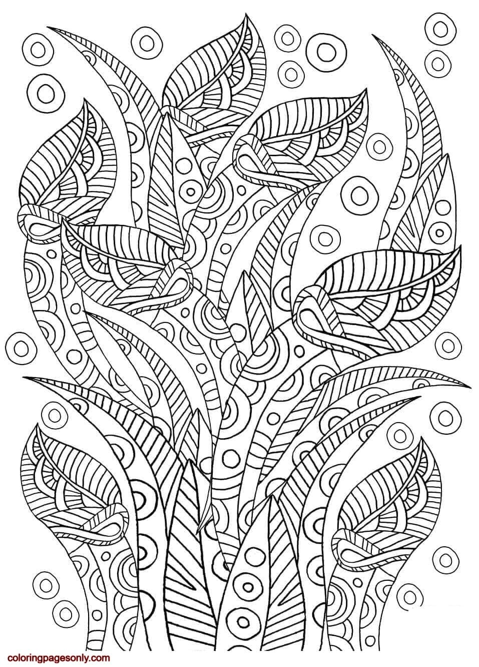 Floral Pattern 7 Coloring Page