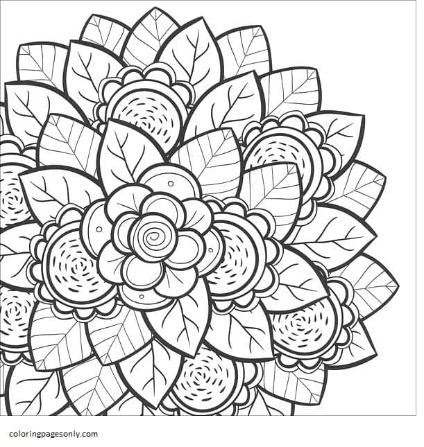Flower 2 Coloring Page