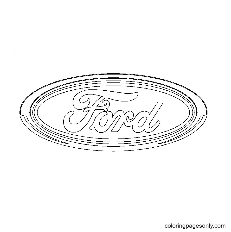 Ford Logo Coloring Page