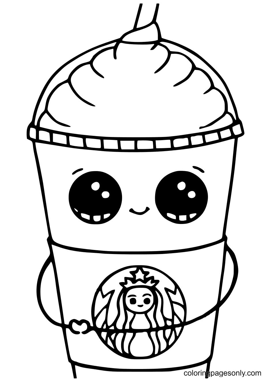 Frappuccino Starbucks Coloring Page
