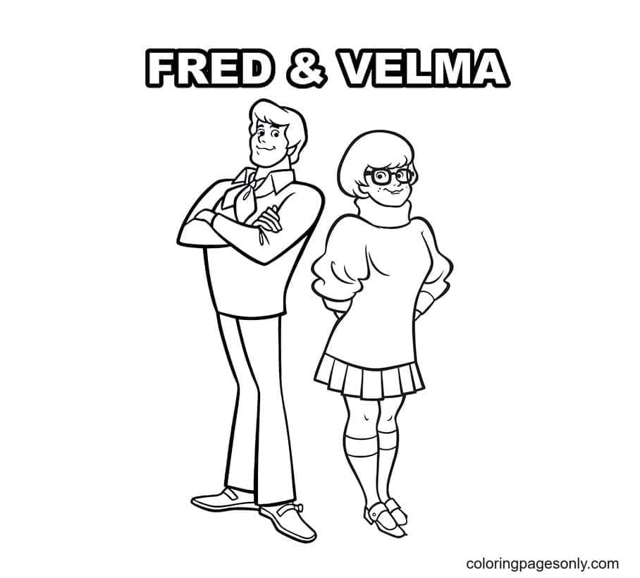 Fred and Velma Coloring Page