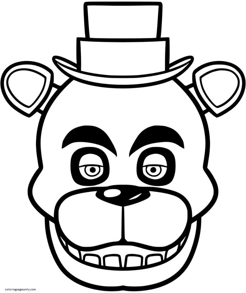 Freddy Fazbear 1 Coloring Page