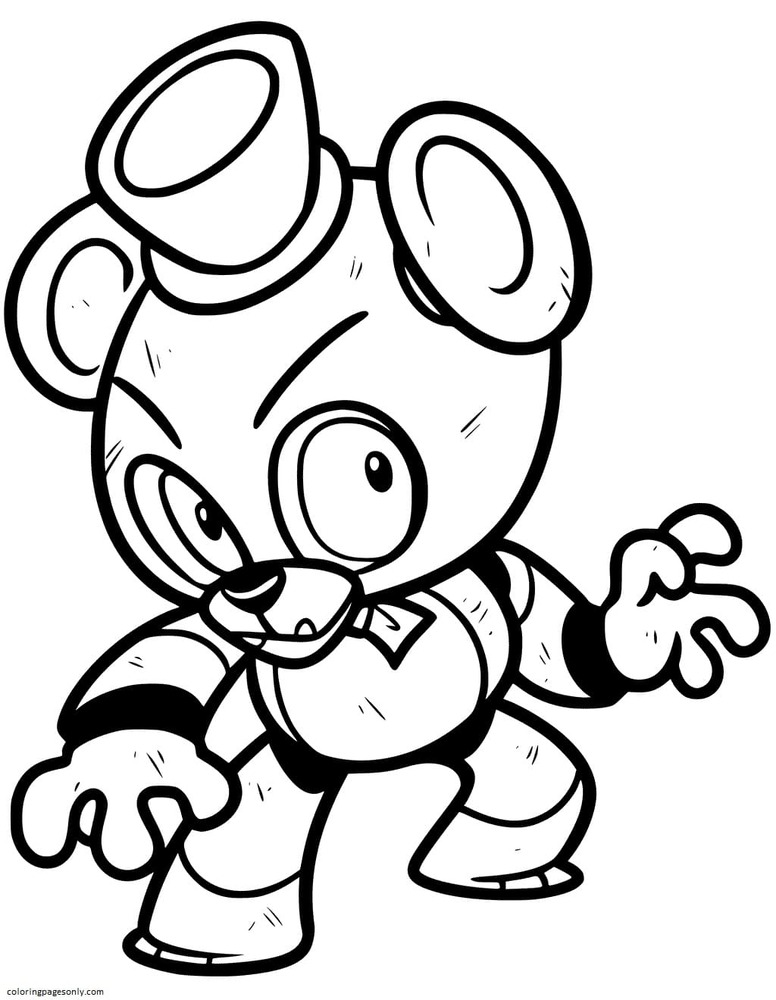 Freddy From Five Nights at Freddy's Coloring Page