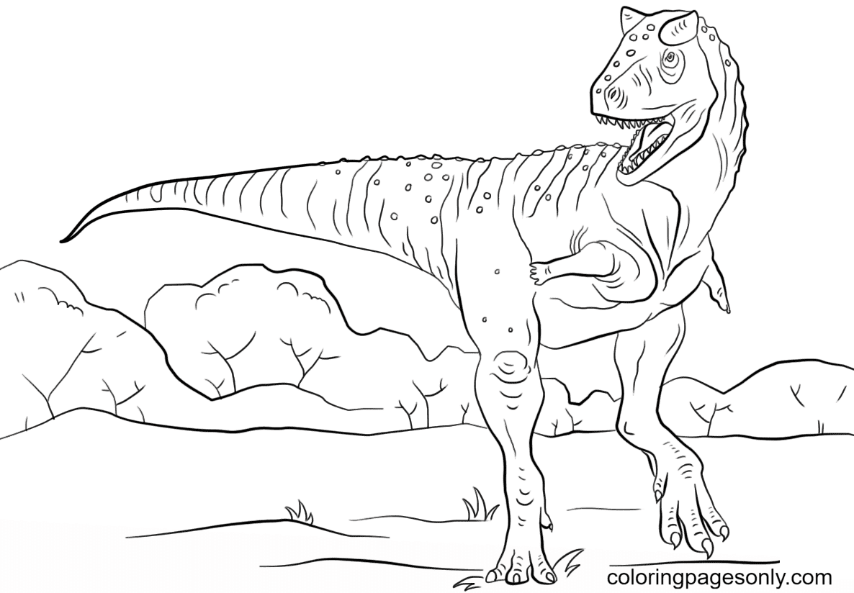 Free Dowload Jurassic Park Carnotaurus Coloring Page