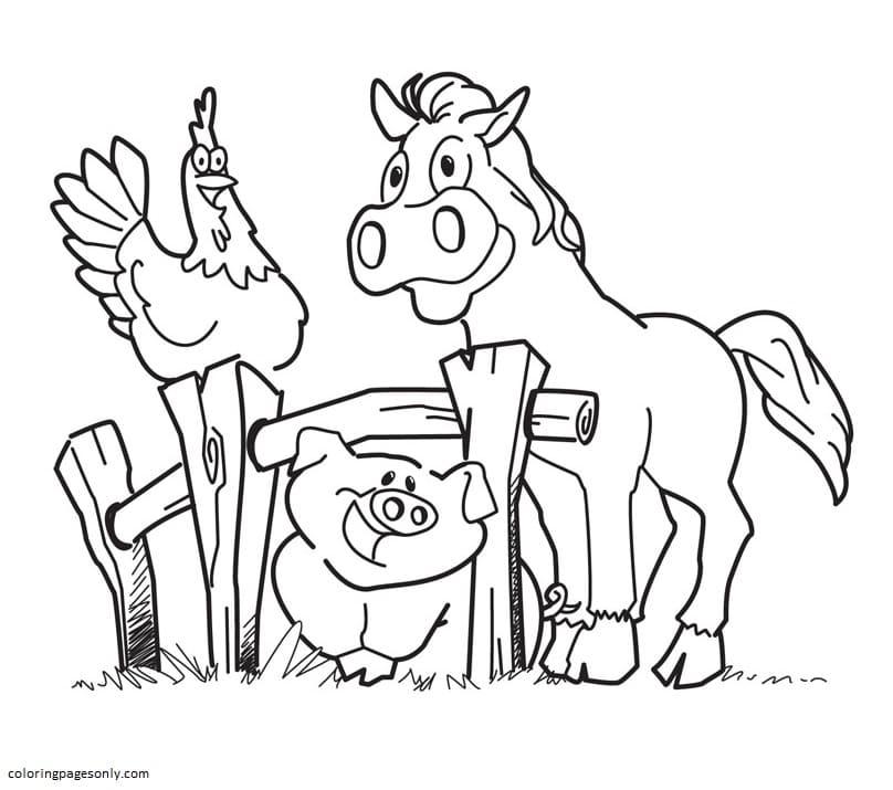 Free Farm Animal 1 Coloring Page