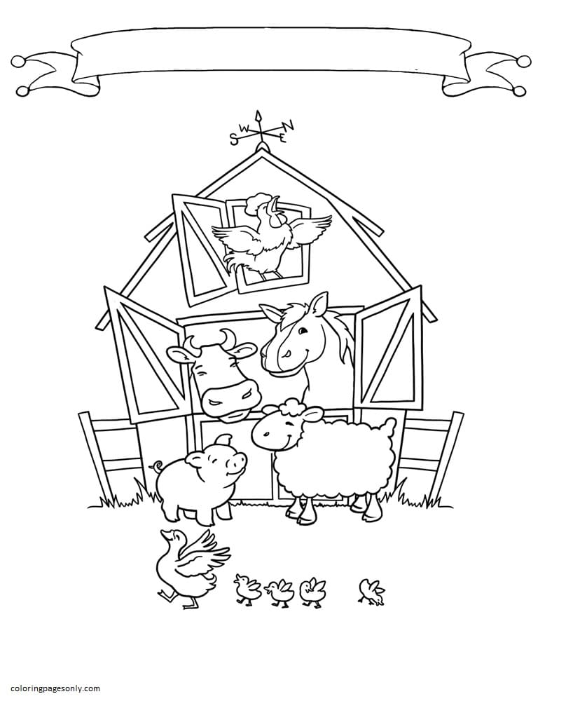 Free Farm Animal 2 Coloring Page