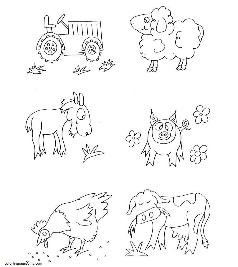 Free Farm Animal 3 Coloring Page