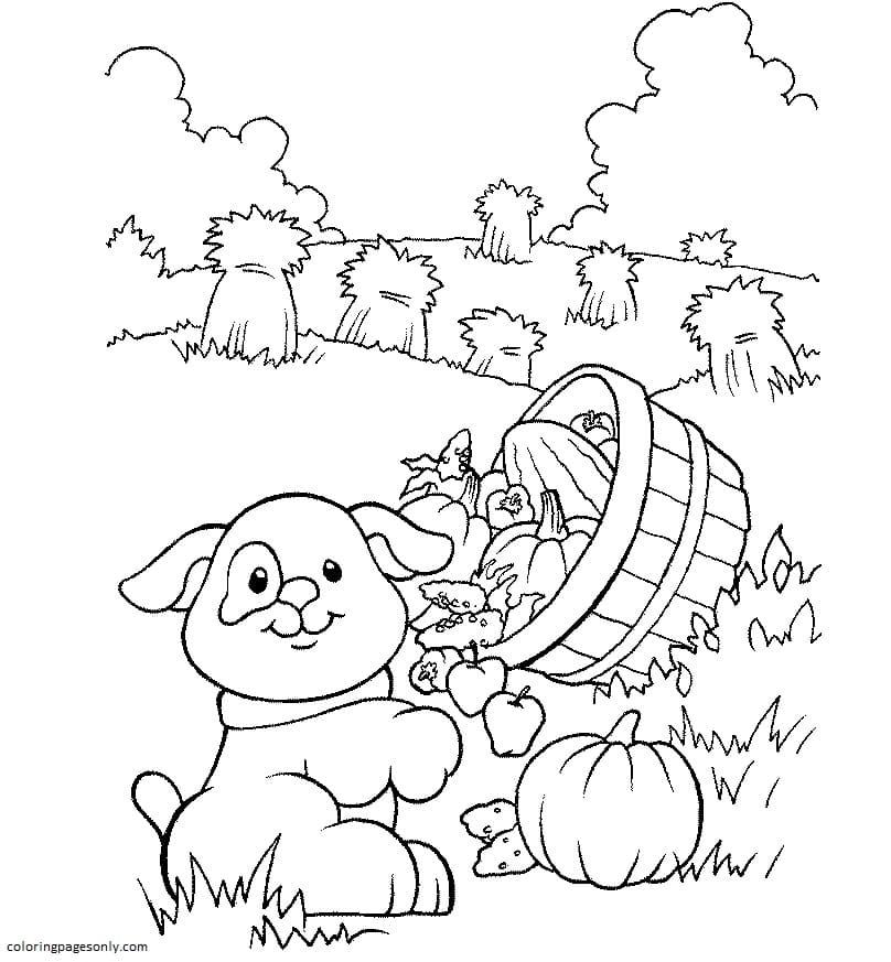Free Farm Animal 4 Coloring Page
