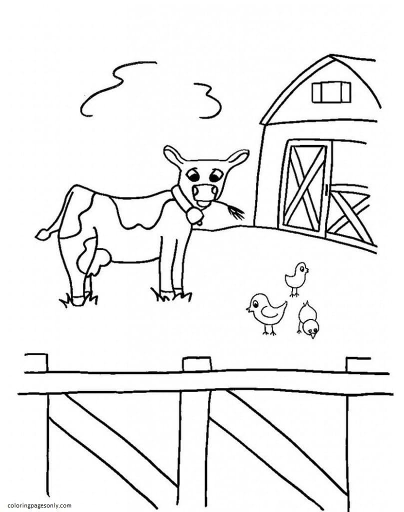 Free Farm Animal 5 Coloring Page