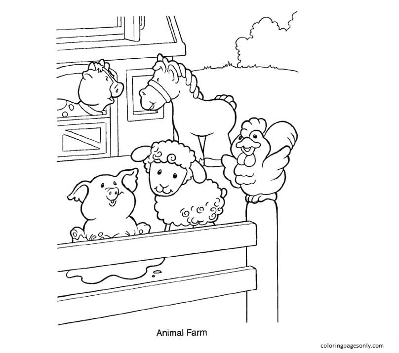 Free Farm Animal 6 Coloring Page
