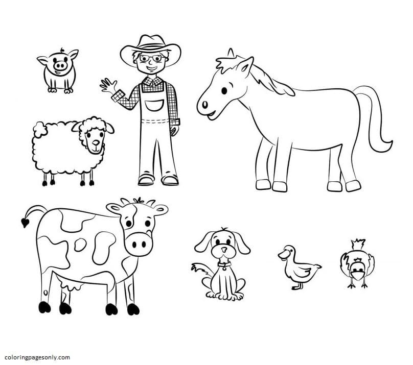 Free Farm Animal Coloring Page