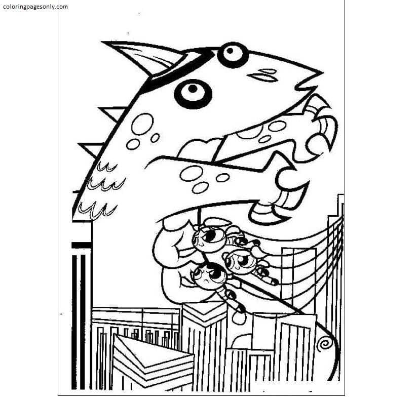Free Powerpuff Girls 3 Coloring Page