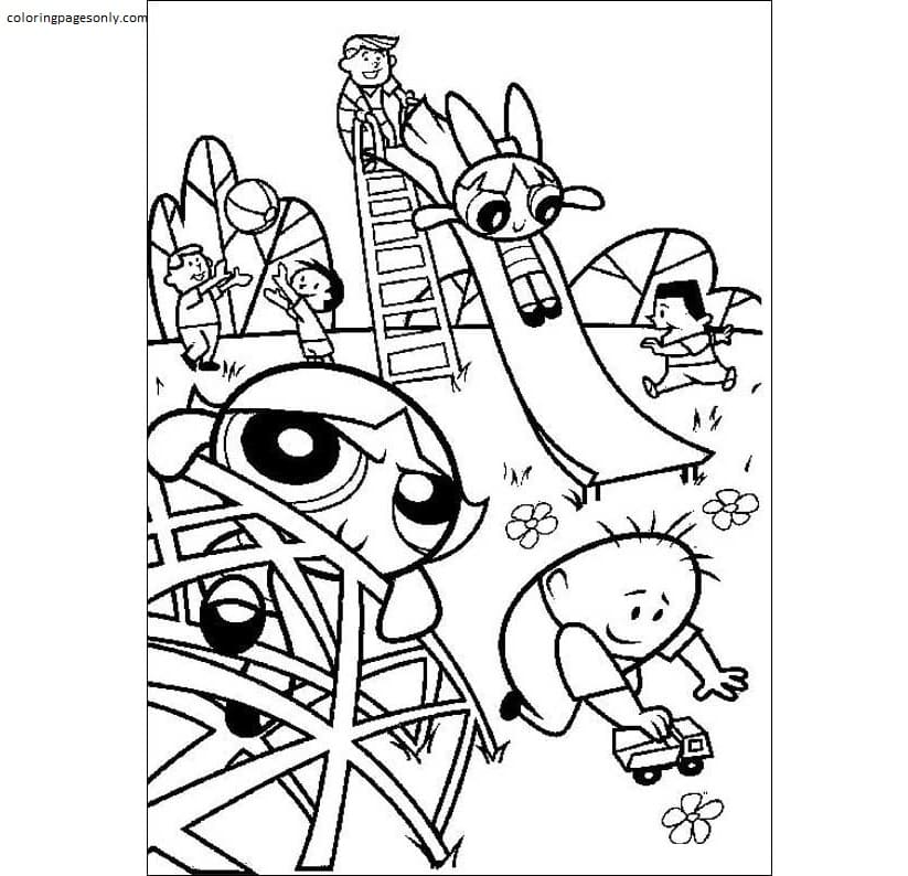 Free Powerpuff Girls 4 Coloring Page