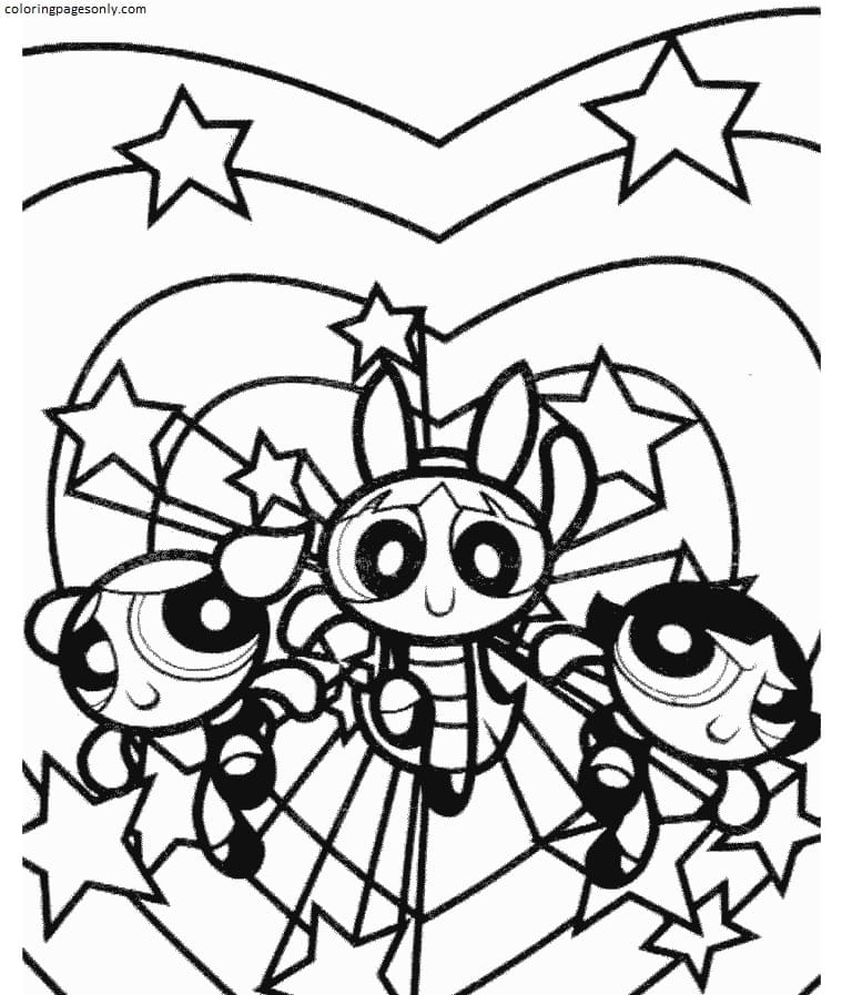 Free Powerpuff Girls Coloring Page