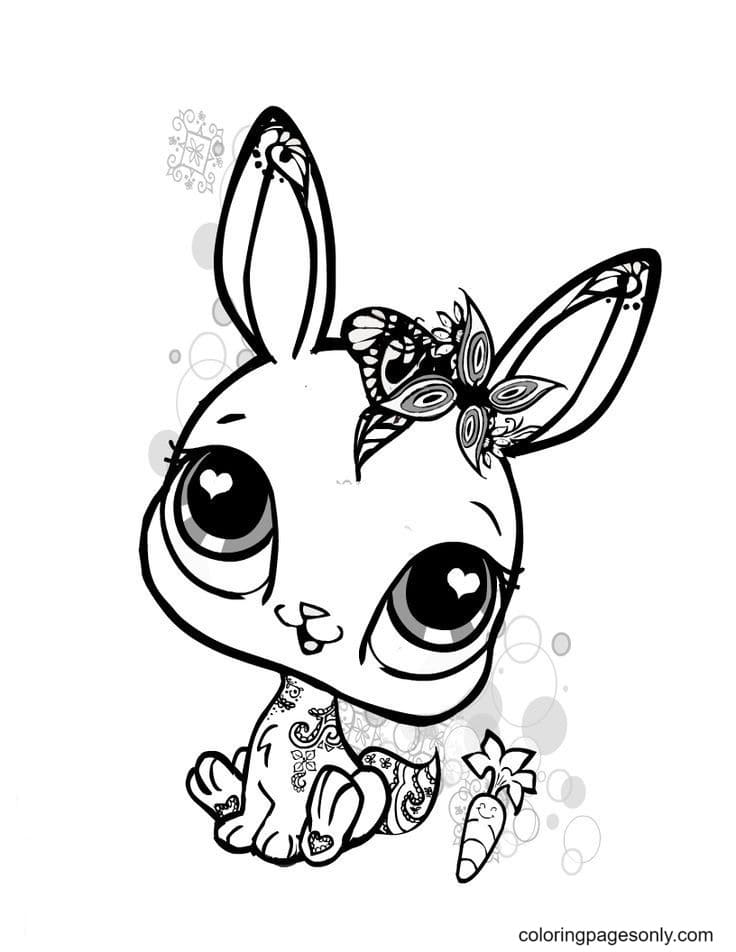 Free Printable Cute Baby Bunnies Coloring Page