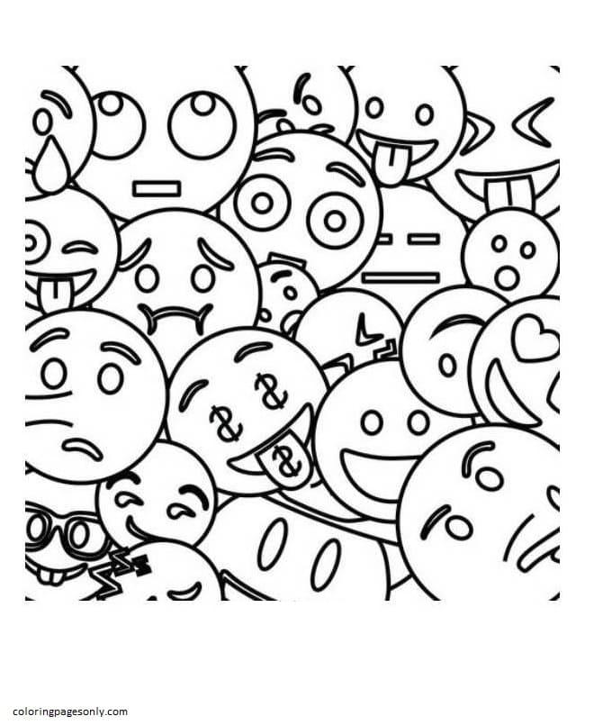 Free Printable Emojis 9 Coloring Page