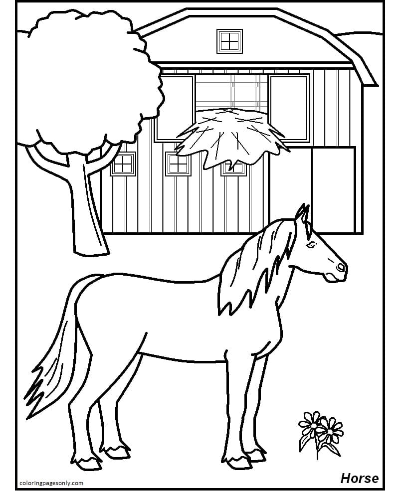 Free Printable Farm Coloring Page