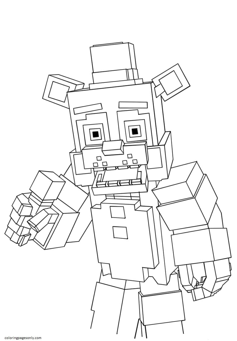 Free Printable Five Nights At Freddy's Coloring Page
