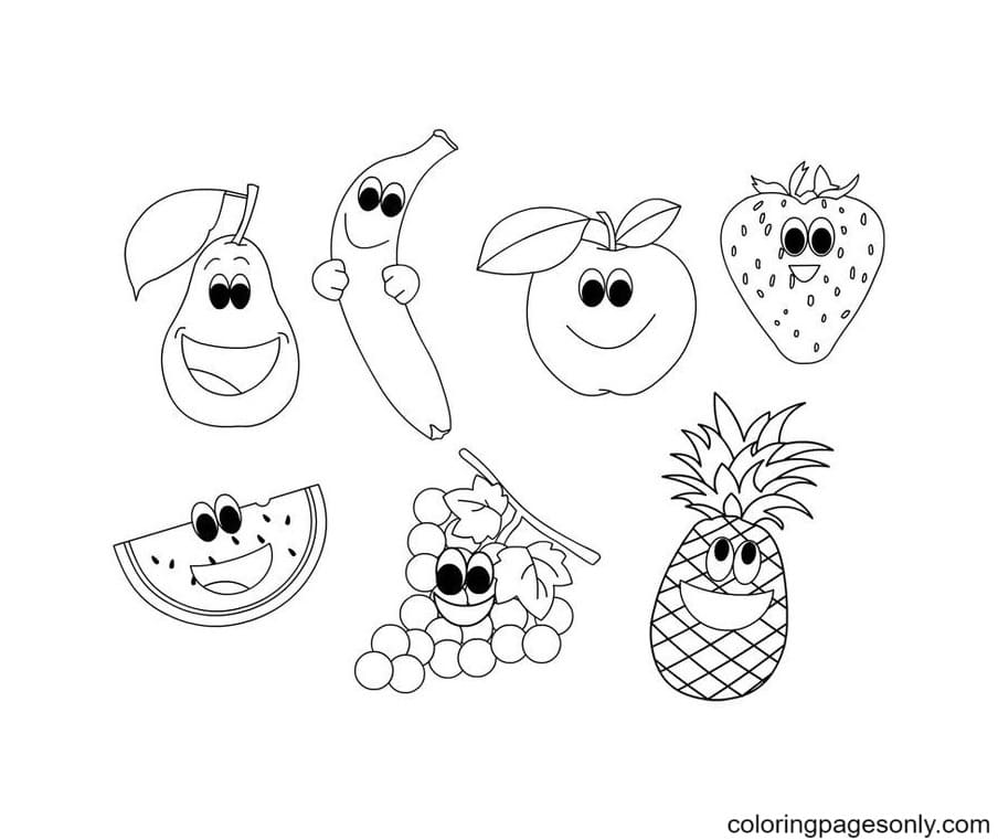 Free Printable Fruit Coloring Page
