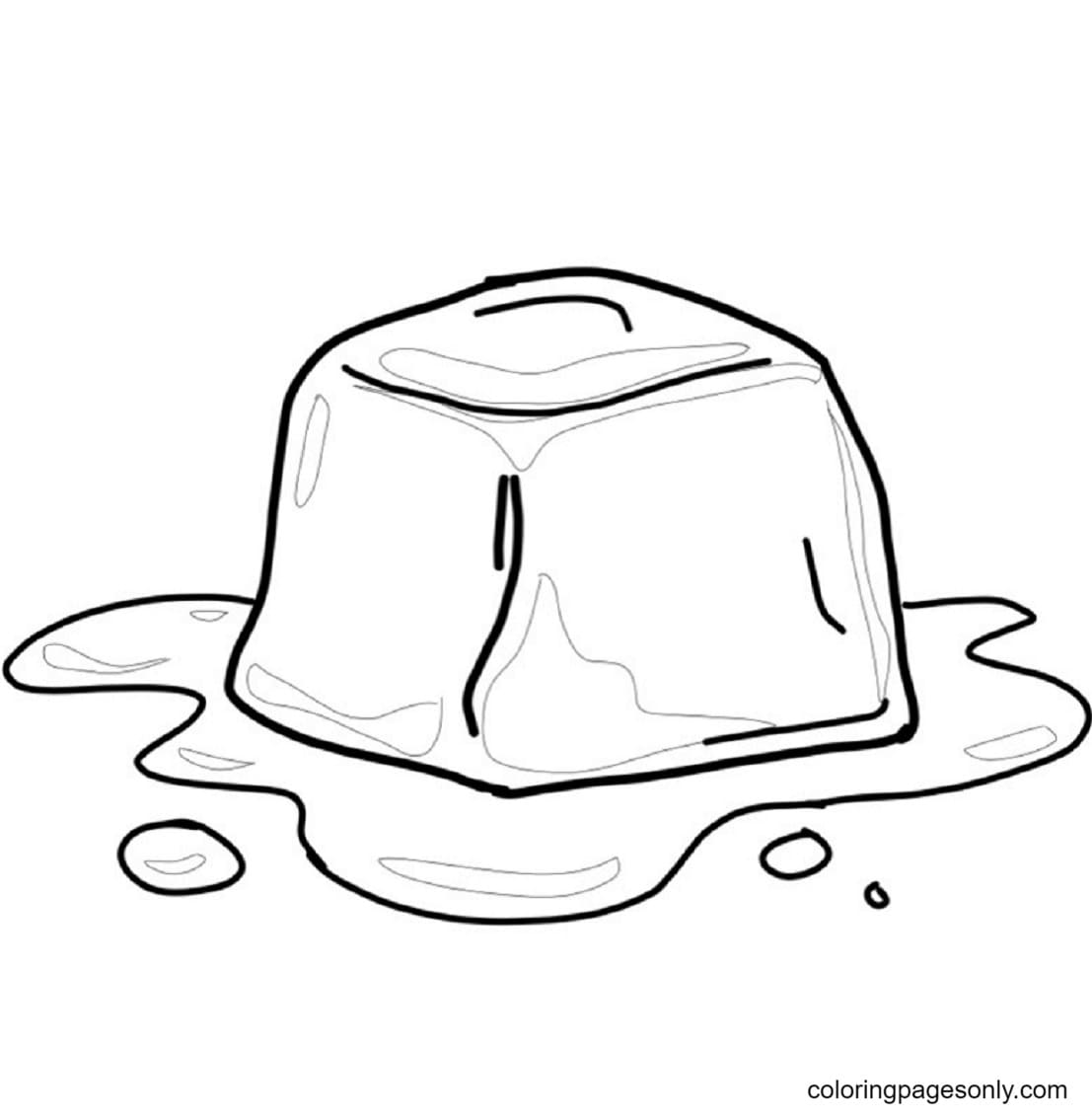 Free Printable Ice Cube Coloring Page