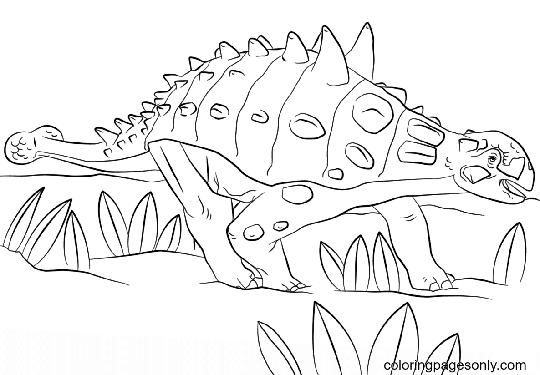 Free Printable Jurassic Park Euoplocephalus Coloring Page
