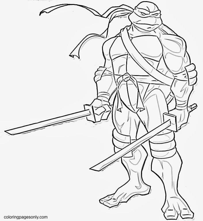 Free Printable Ninja Turtle Coloring Page
