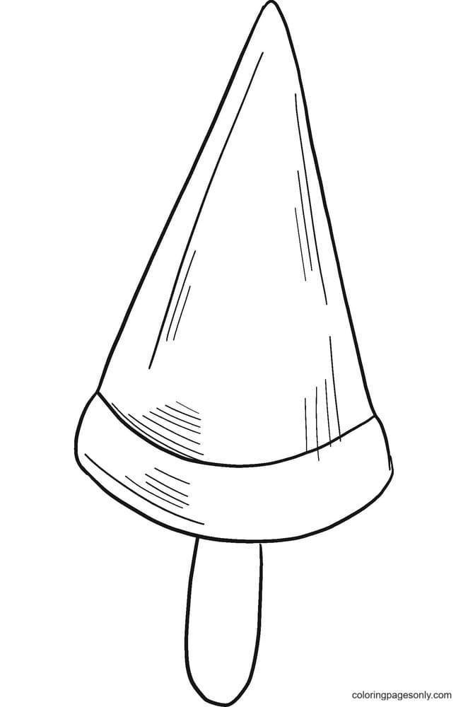 Free Printable Popsicle Coloring Page