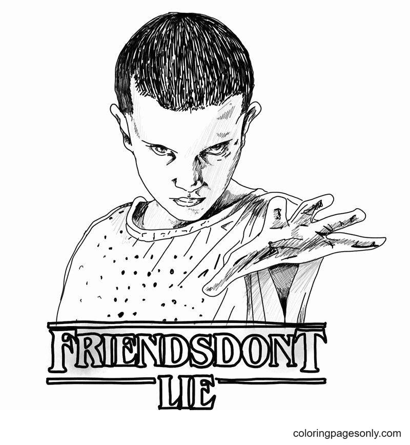 Friends Don T Lie Eleven Coloring Page
