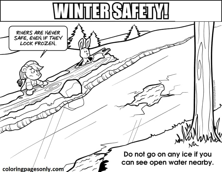 Frozen Rivers Coloring Page