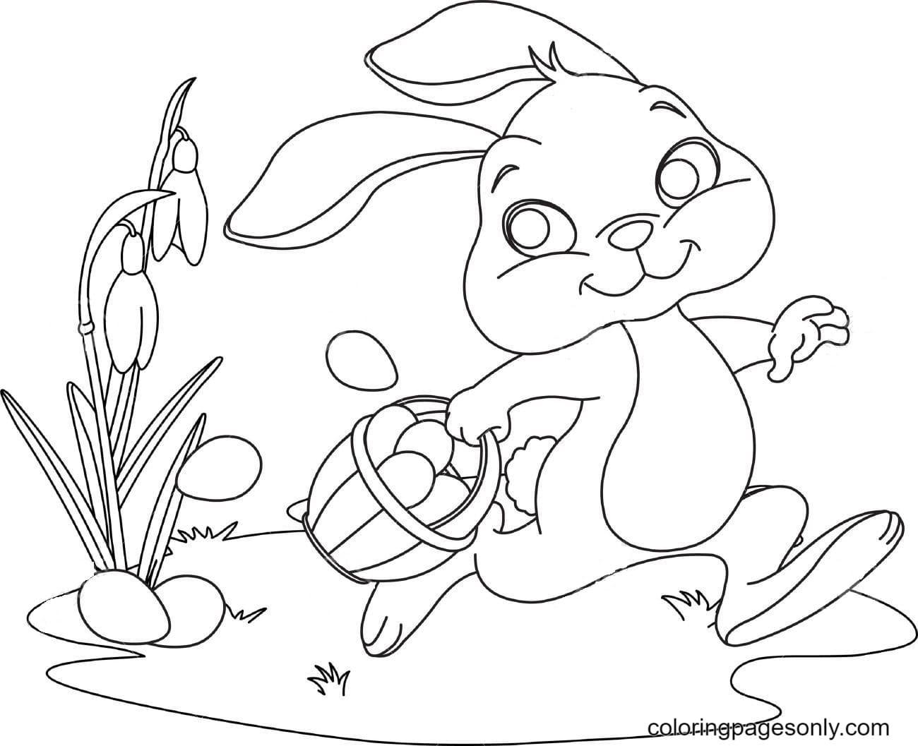 Fun Cute Bunnies Coloring Page