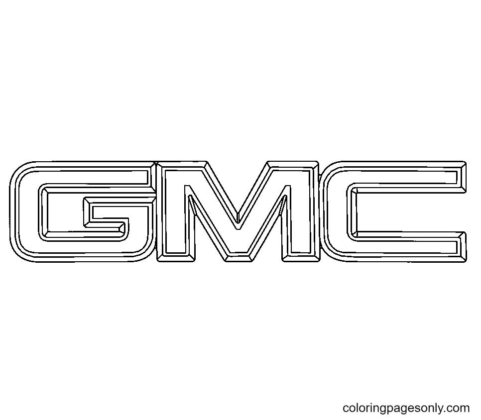 GMC Logo Coloring Page