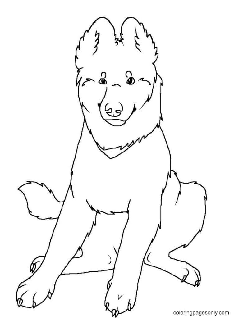 German Shepherd Puppy Coloring Page