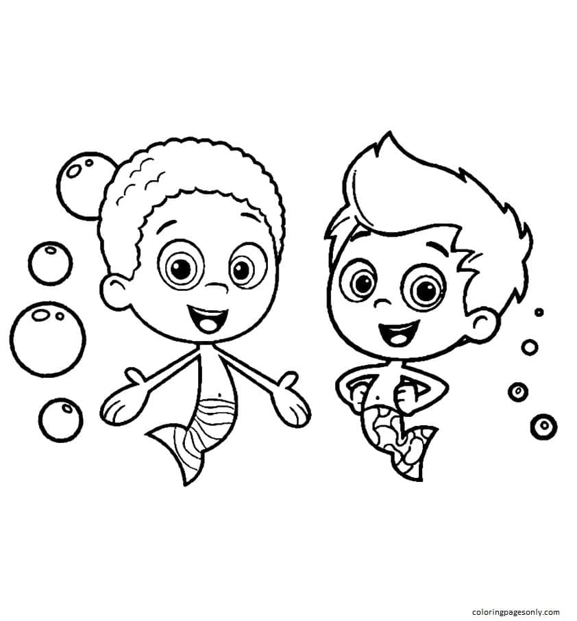 Gil and Goby Coloring Page