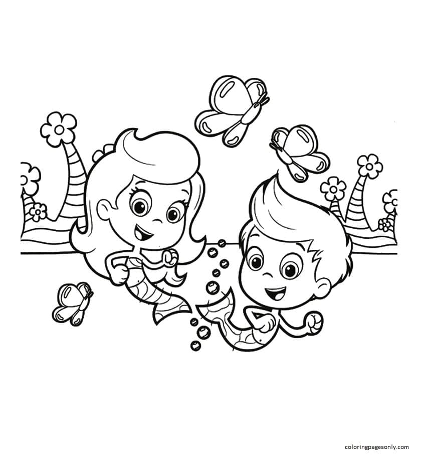 Gil and Molly Coloring Page
