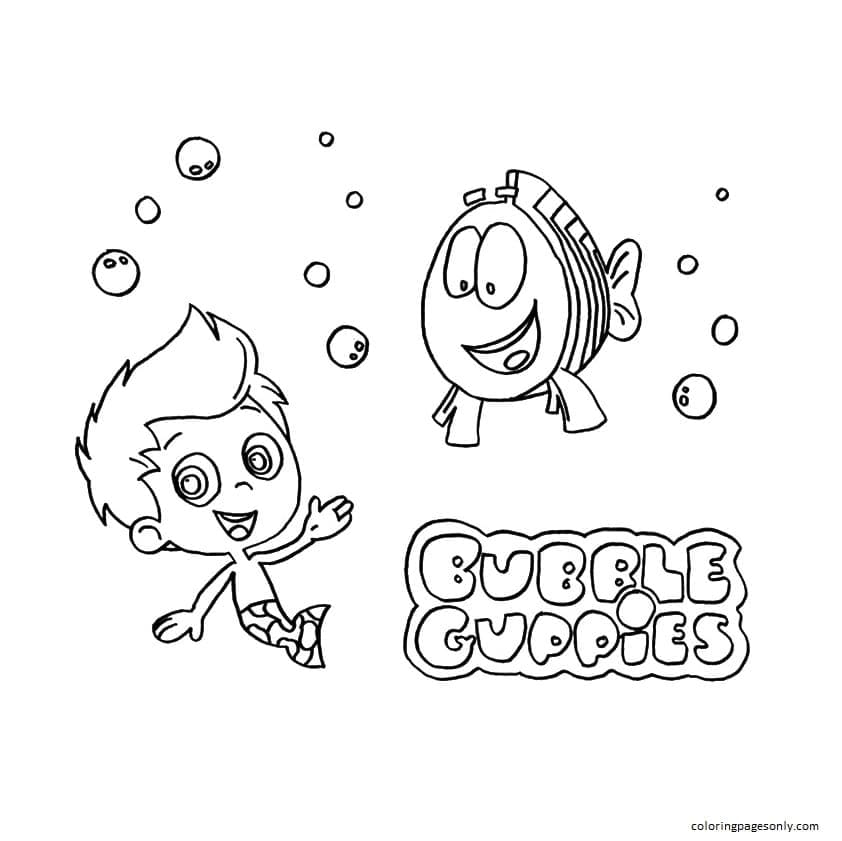 Gil and Mr Grouper Coloring Page