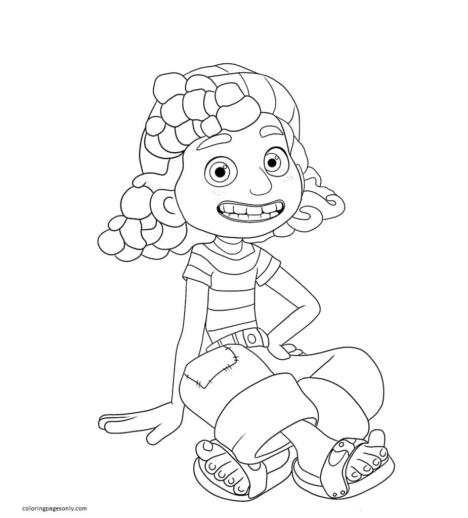 Giulia from Luca Coloring Page