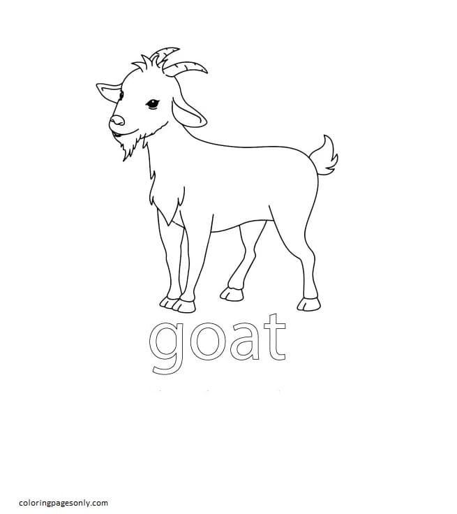 Goat Farm Coloring Page