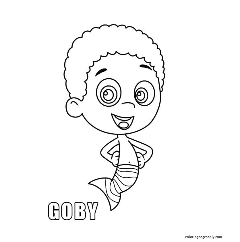 Goby 1 Coloring Page