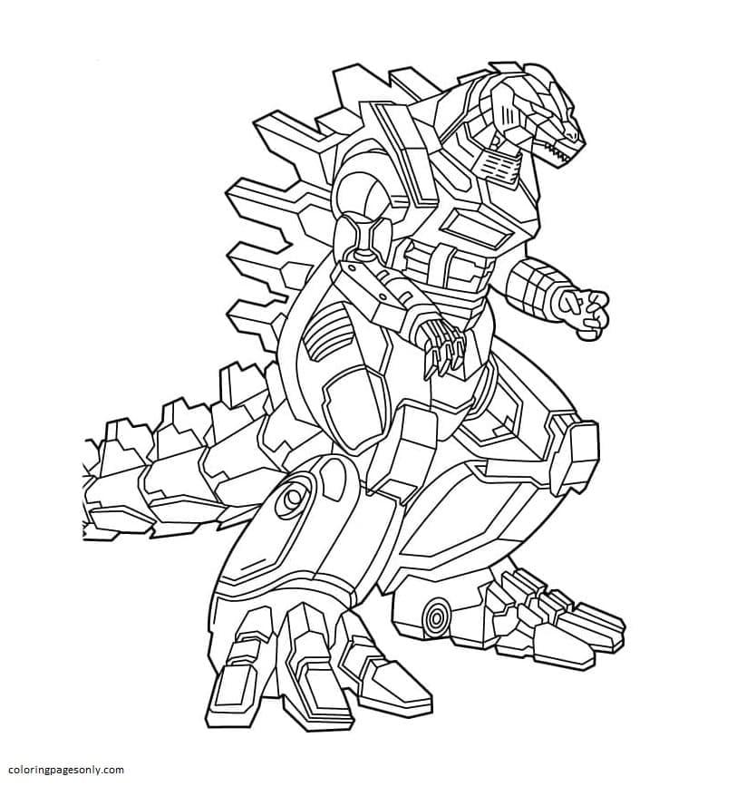 Godzilla robot Coloring Page